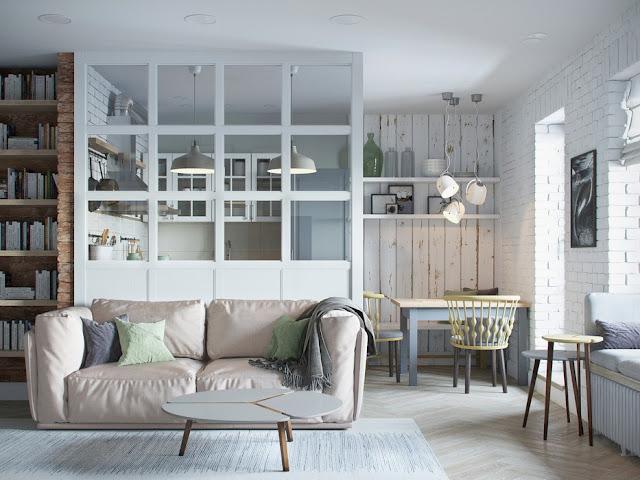 Proiect de amenajare în tonuri pastelate pentru un apartament de 68 m² din Minsk