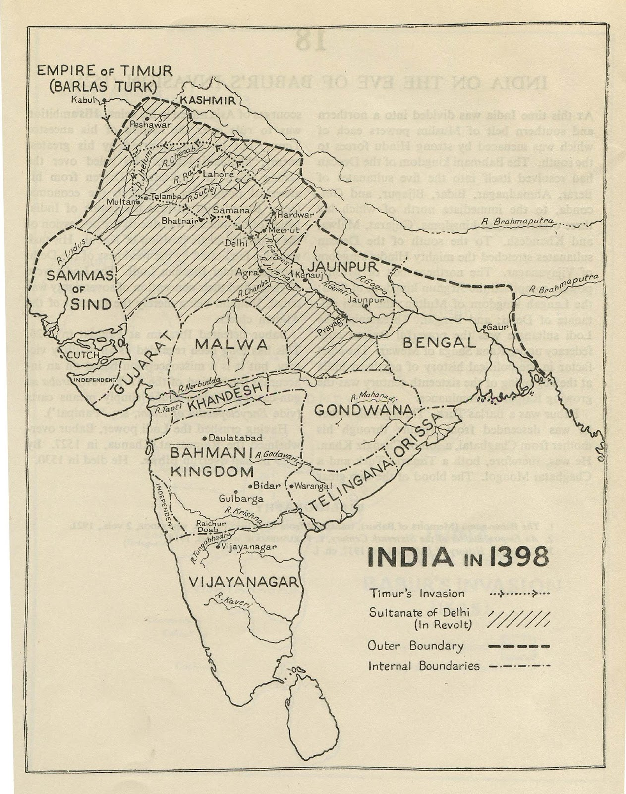 Islamic Empires/Kingdoms in India (Revised)   Maps and