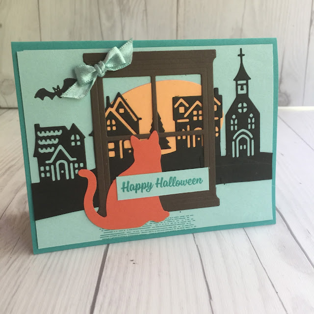 Bermuda Blues non-traditional Halloween Card Idea