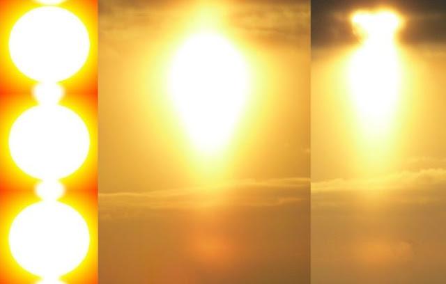 Солнце 2015 и 2016 Солнечный закат Солнечное Гало Солнечные радужные столбы солнечные столбы