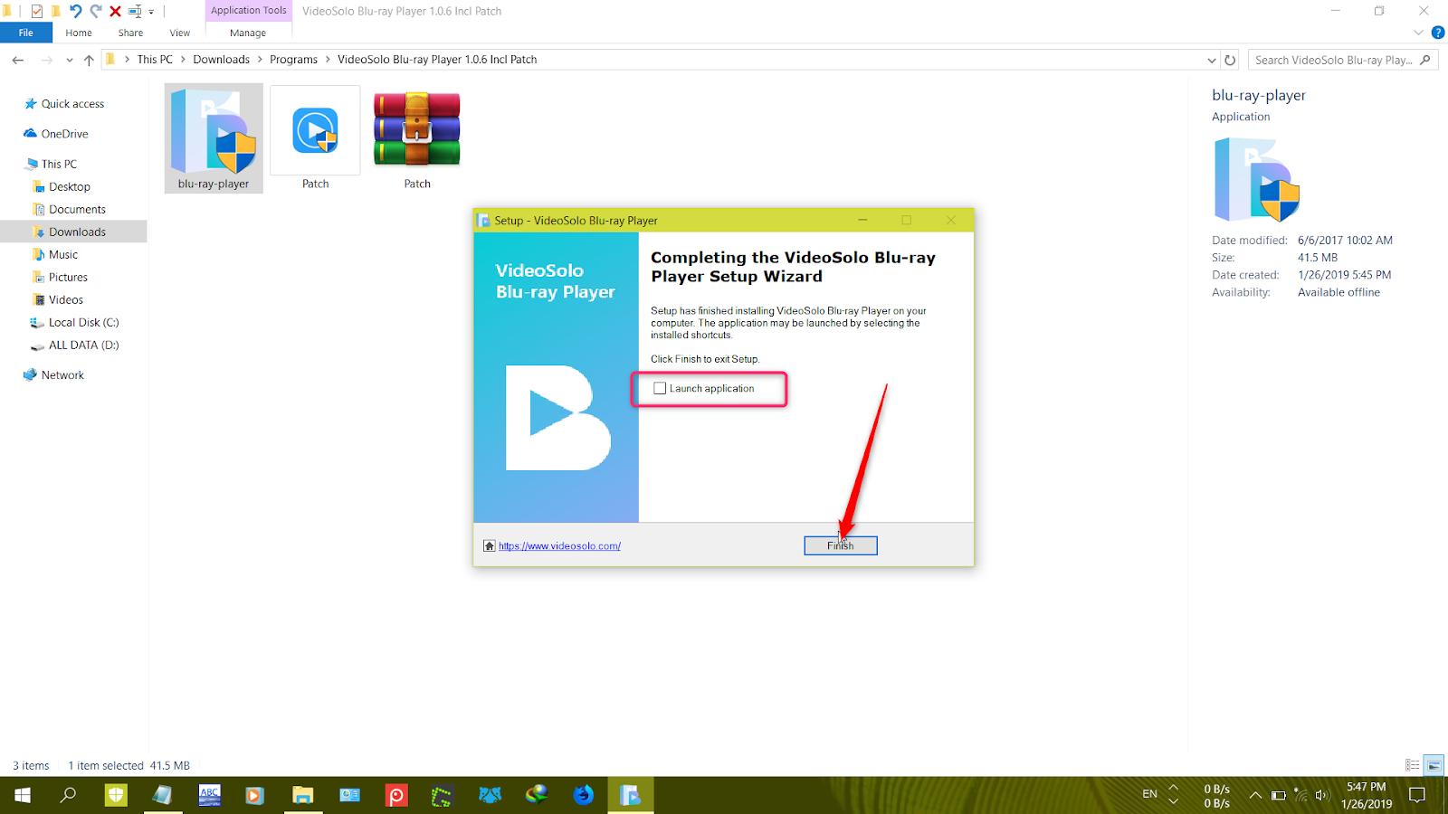 Videosolo Blu Ray Player 1 1 89
