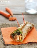 Rollitos de pollo y zanahoria