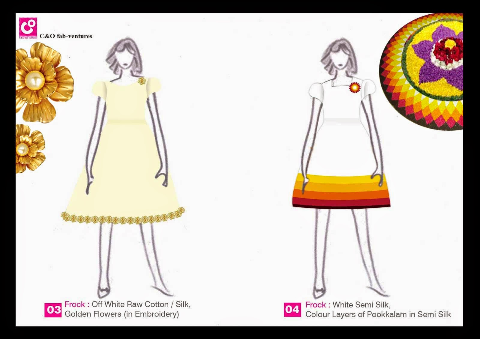 a59f54bf5 Customised Frock designs for Onam. We have Onam Theme designs for Girls  dress. Many mothers are tired of the Pattu Pavada for Onam. Let your girl  child ...