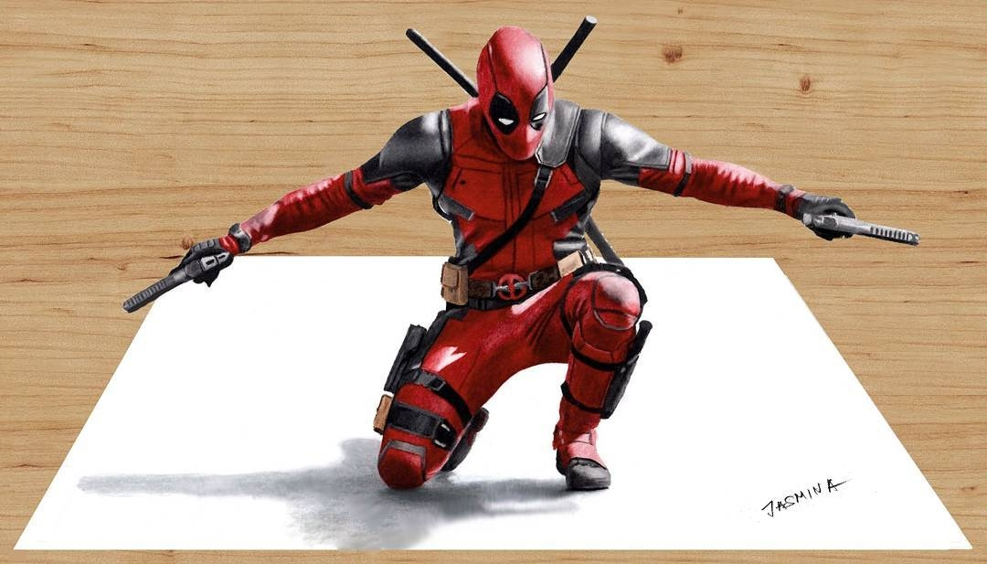 02-3D-Deadpool-Jasmina-Susak-Superheroes-and-Villains-in-2d-and-3d-Drawings-www-designstack-co