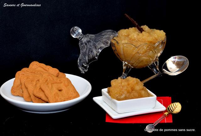 Saveurs et gourmandises compote de pommes sans sucre ajout - Conserver de la compote maison ...