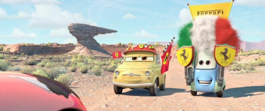 Dan The Pixar Fan Cars Luigi Guido Ferrari Fans Movie Moment 2