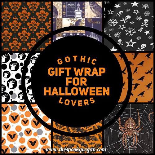 Gothic Gift Wrap for Halloween Lovers
