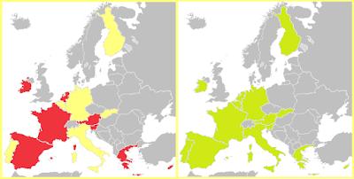 Mapa monedas 2 Euros 2009