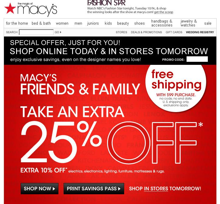 Free Shipping with Beauty Purchase If you do not qualify for free in-store pickup and your order is below the free shipping threshold, then you are facing a $ shipping charge. There is still a way to get free shipping. Macy's offers free shipping on your entire order with the purchase of a beauty item.