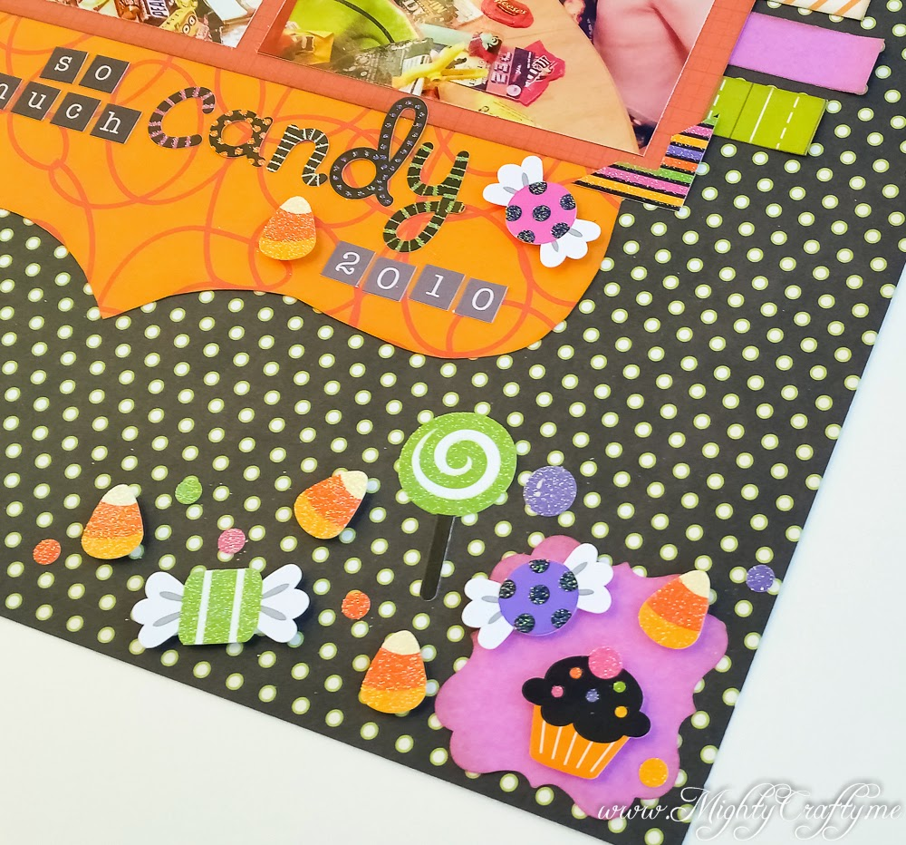 So Much Candy layout for Sketch N Scrap -- www.MightyCrafty.me