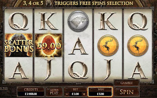 Game of Thrones slot machine game main screen