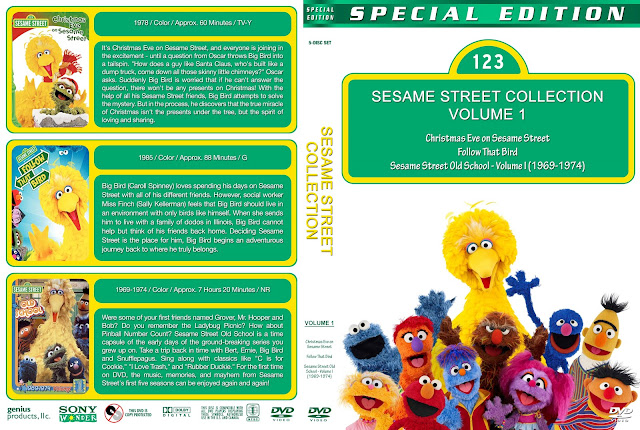 Sesame Street Collection - Volume 1 DVD Cover