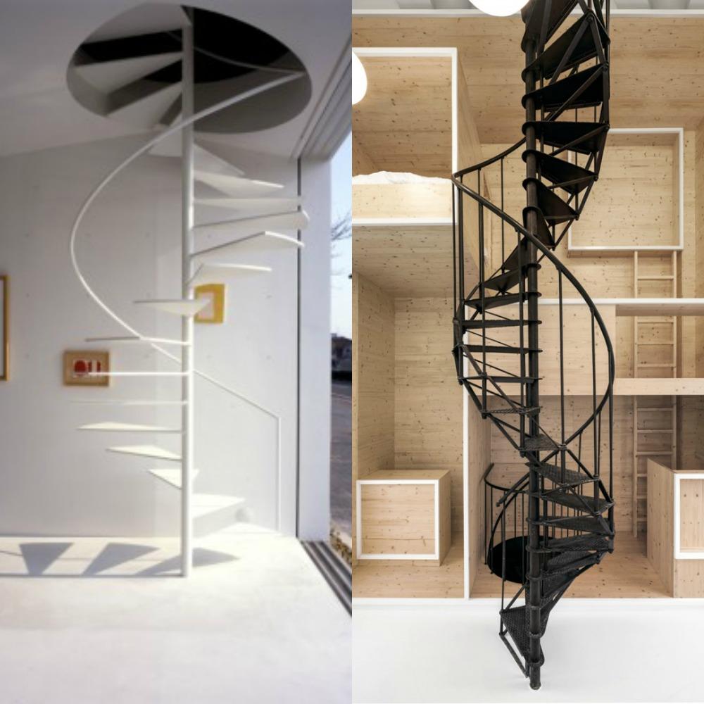 Mcompany style c mo decorar con escaleras de caracol - Escalera de caracol prefabricada ...