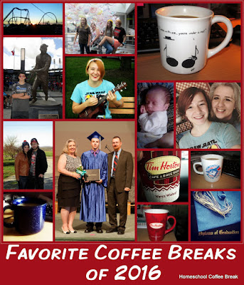 Favorite Coffee Breaks of 2016 on Homeschool Coffee Break @ kympossibleblog.blogspot.com  #homeschool  #hsbloggers  #hsreviews