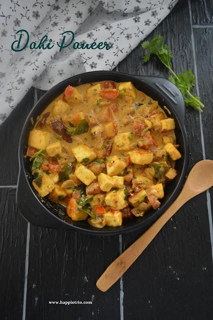 Dahi Paneer Gravy | Paneer Yogurt Curry