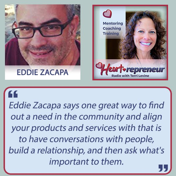 Listen to Eddie's Interview on Heartrepreneur Radio