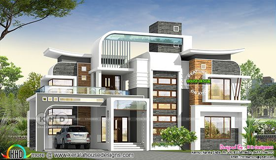 Unique ultra modern 4 bedroom house design