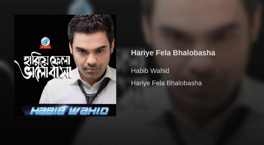 হারিয়ে ফেলা ভালবাসা - হাবীব ওয়াহিদ ( Hariye Fela Valobasha - Habib Wahid )