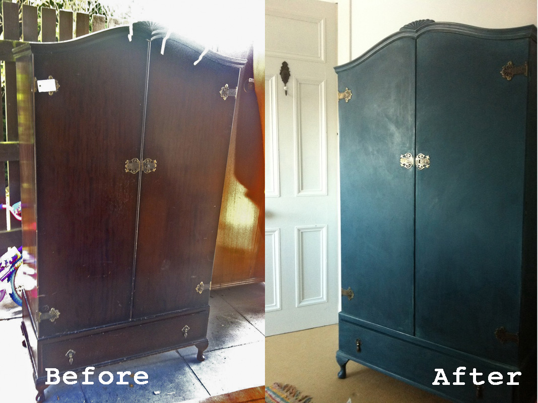 Wardrobe Makeover In Aubusson And Duck Egg Blue