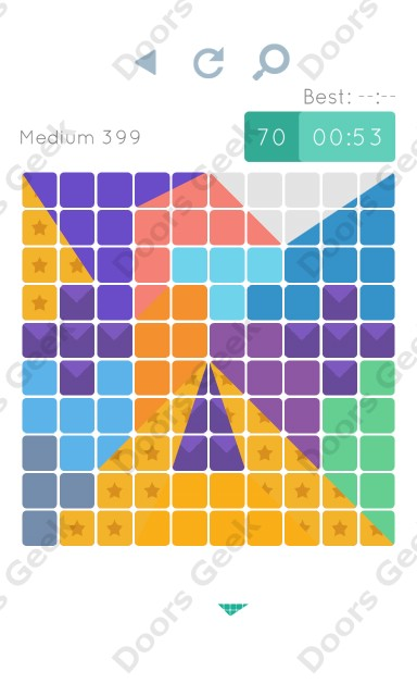 Cheats, Walkthrough for Blocks and Shapes Medium Level 399