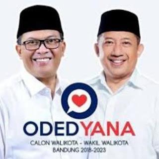 Hasil Resmi Pilwalkot Bandung 2018: Oded-Yana Menang Telak