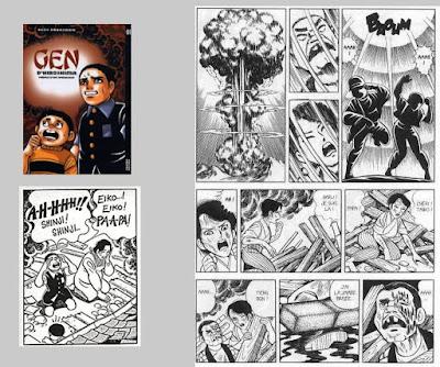 Guerre et manga. Nakazawa, Keiji. Gen d'Hiroshima, t.1 © Vertige Graphic
