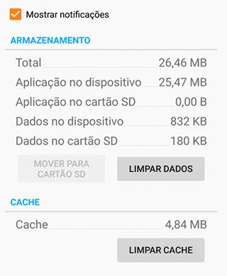 Limpar cache e dados no Android