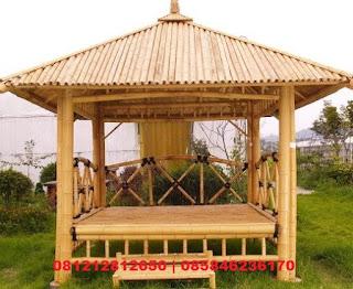 jasa pembuatan gazebo saung bambu jakarta barat murah bagus berkualitas