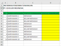 Belajar Fungsi If Excel