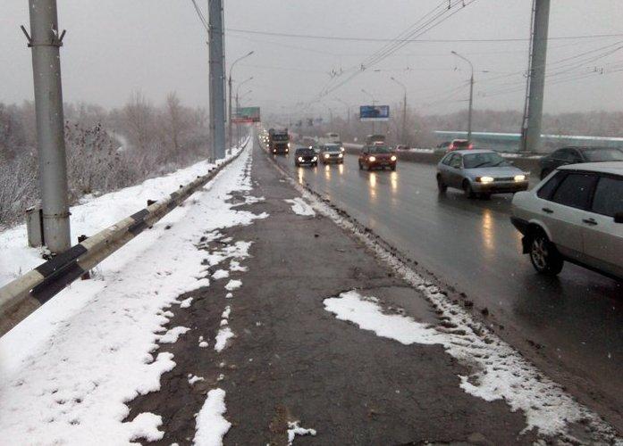 Дорога в Новосибирске в октябре