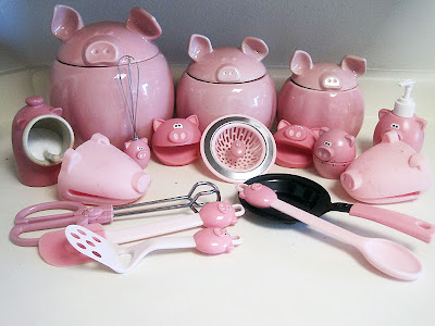 pig kitchen canisters workout then cook my piggy obsession 14548