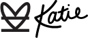 Katie's Signature with Katemade Designs Logo