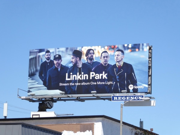 Linkin Park spotify billboard