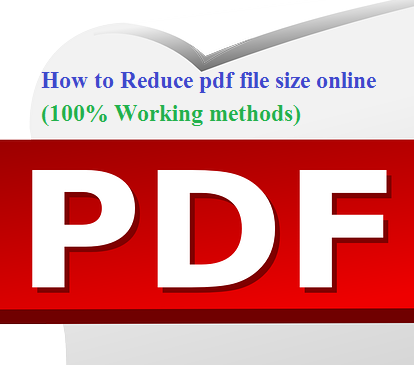 How to Reduce pdf file size online