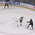 Jamie Benn hit in throat by flying stick vs Sabres