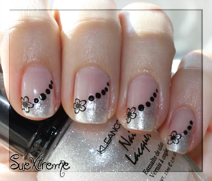 Suextreme manicura francesa en blanco y negro - Decoracion de unas francesa ...