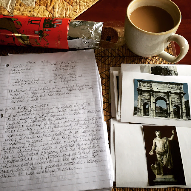 art history notes slides coffee and biscuits
