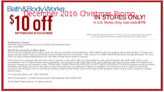 Bath And Body Works coupons december