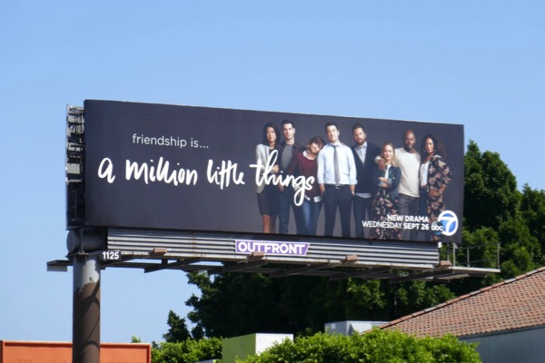 A Million Little Things series premiere billboard