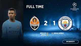 Shakhtar Donetsk vs Manchester City 2-1 Video Gol Highlights