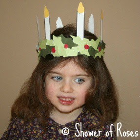 shower of roses our santa lucia crown