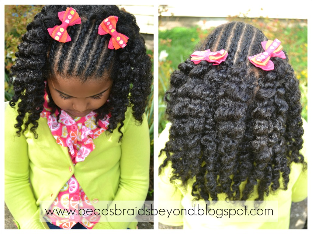 Natural Hair Styles For Little Girls Cornrows Amp Twist Out  Flat