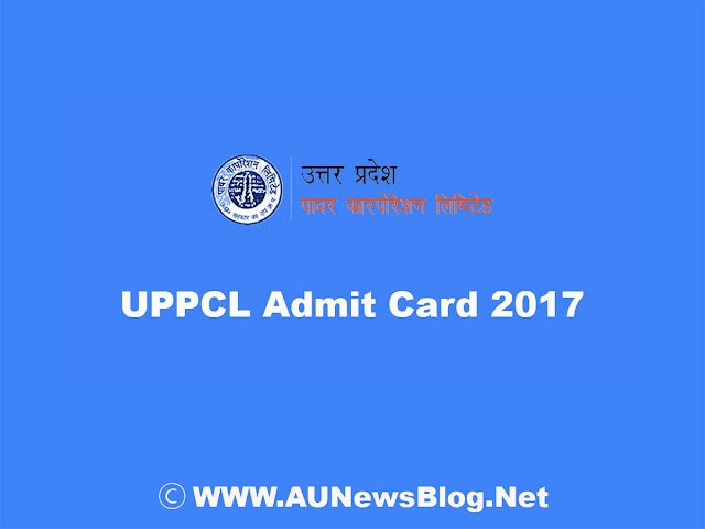 UPPCL JE Admit Card 2017 - Download on uppcl.org