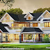 Beautiful 4 BHK sloping roof style house