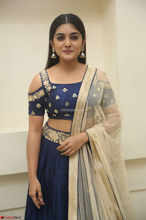 Niveda Thomas in Lovely Blue Cold Shoulder Ghagra Choli Transparent Chunni ~  Exclusive Celebrities Galleries 080