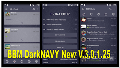 [UBDATE] BBM DarkNAVY Themes Full Features v3.0.1.25 APK