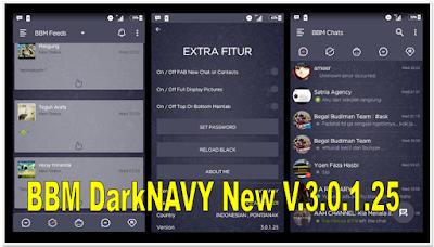 [UBDATE] BBM DarkNAVY Themes Full Features v3.0.1.25 APK