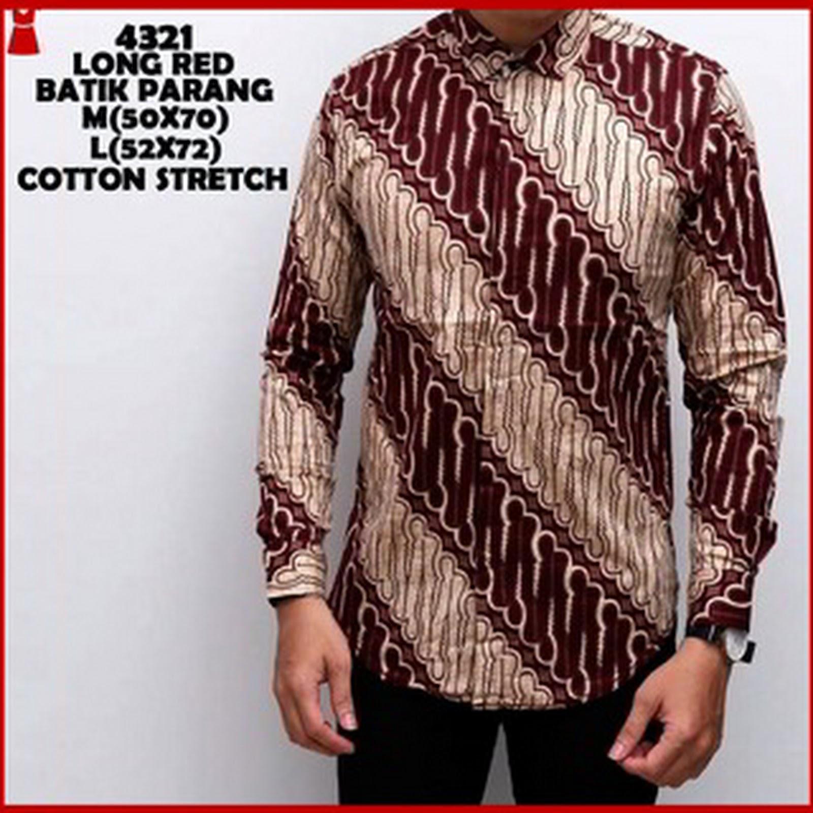 Bj0236 Baju Batik Pria Model Kemeja Parang Simple 2fa08d152b