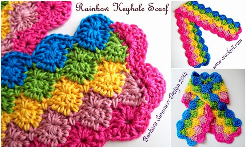 MICROCKNIT CREATIONS: KEYHOLE SCARF RAINBOW - TODDLER TO ADULT
