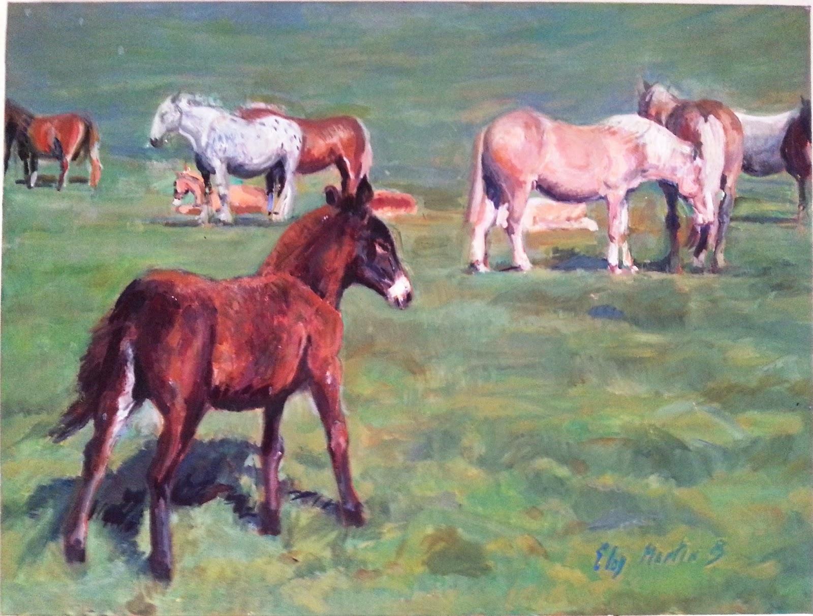 Cuadro con caballos